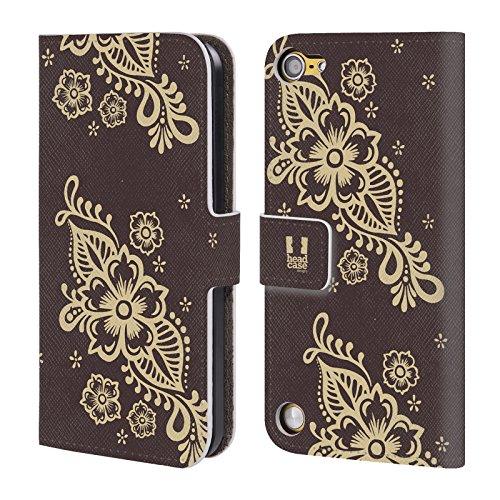 Head Case Designs Rampicante Henna Cover a portafoglio in pelle per iPod Touch 5th Gen / 6th Gen