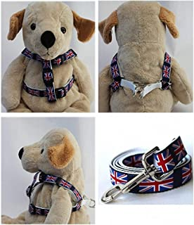 "product image for Diva-Dog 'London Calling' Custom 5/8"" Wide Dog Step-in Harness with Plain or Engraved Buckle, Matching Leash Available - Teacup, XS/S"