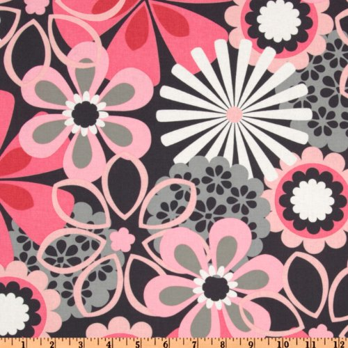 (Michael Miller Contemporary Florals Flower Shower Petal Pink Fabric)