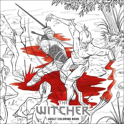 The Witcher Adult Coloring Book cover