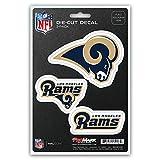 NFL Los Angeles Rams Team Decal, 3-Pack