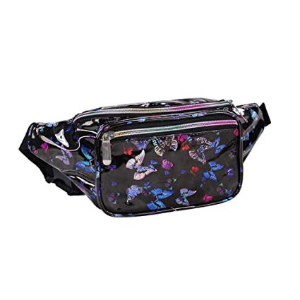 048dc0f3685d Amazon.com : Fashion Holographic Fanny Pack for Women Men-Waterproof ...