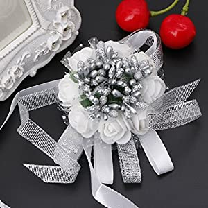 SimpleLife Beautiful Wrist Corsage Bracelet Bridesmaid Sisters Hand Flowers Wedding Party 60