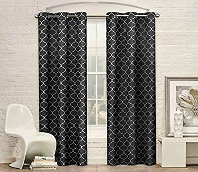 Everydayspecial Studio Collection Classy Top Grommet Two Window Panels Ornament Pattern