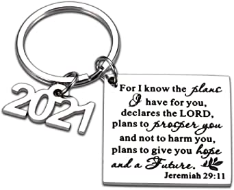CHRISTIAN GIFT RELIGIOUS RINGS FOR WOMEN MEN JEWELRY LORDS PRAYER RING BIBLE VERSE JOURNAL JEREMIAH 29:11 INSPIRATIONAL SCRIPTURE KEYCHAIN FROM MOM DAD GODFATHER CHURCH PRESENT CHRISTMAS THANKSGIVING DAY ENCOURAGEMENT CHARM FOR DAUGHTER SON COUPLE 2021 PRESENTS