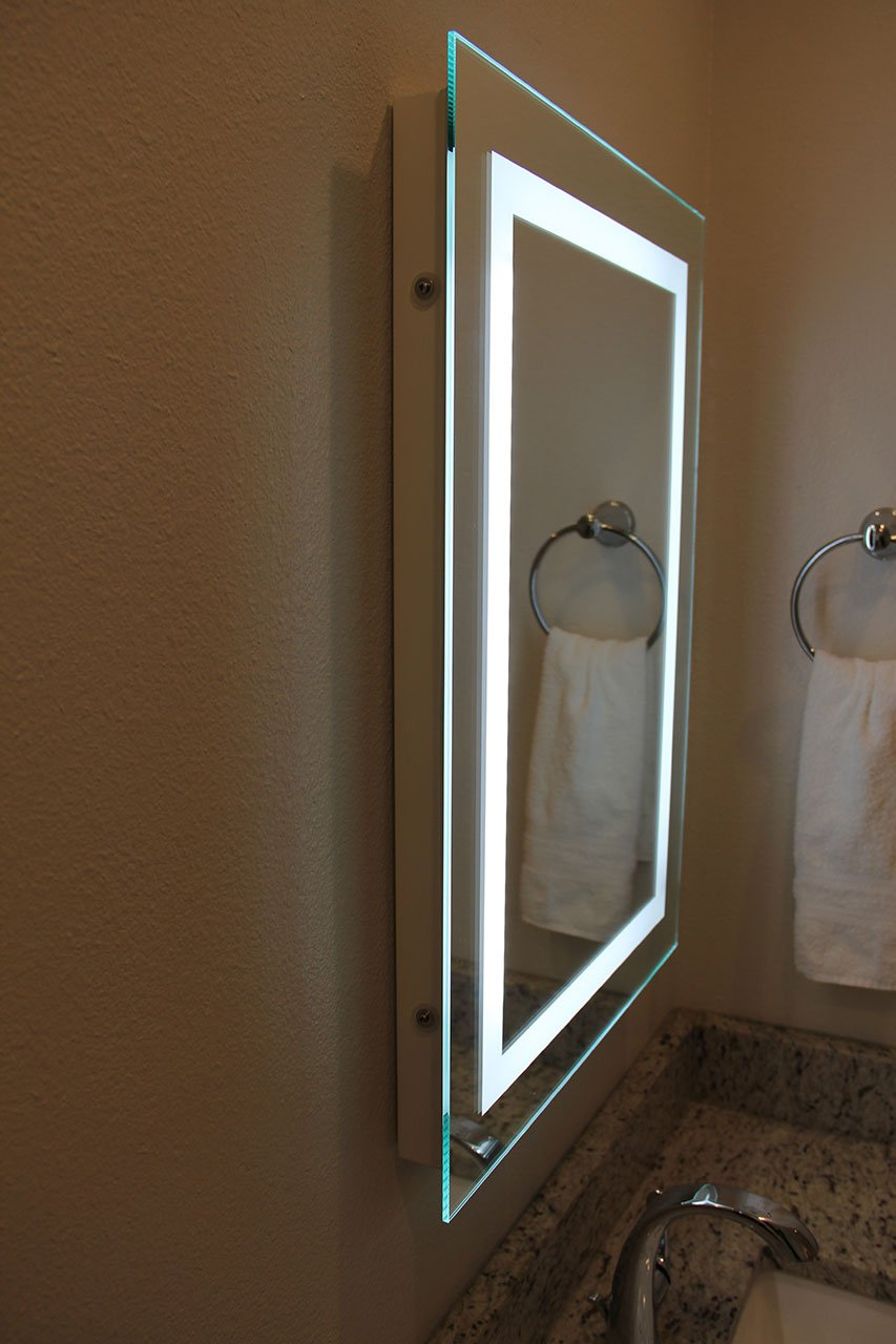 Amazon.com: LED Backlit Mirror with Border: Home & Kitchen