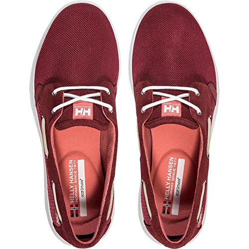 183 Lillesand Red plum Femme Chaussures Helly W persian Bateau shell Hansen Rouge FAq7Pwf
