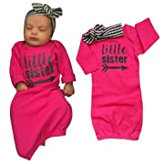 Sunbona Sleep Sack For Toddlers, 2Pcs Newborn Baby Organic Cotton Blanket Swaddle Wrap Letter Print Sleeping Bag Kids+Headband Set (Hot Pink)