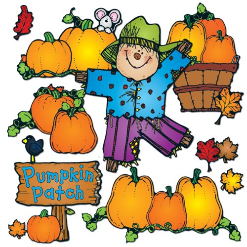 Carson Dellosa D.J. Inkers Pumpkin Patch Bulletin Board Set (610048) ()