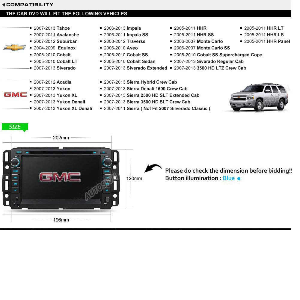 Amazon.com: Autosion Touch Screen Android 8.1 Car DVD Player GPS Navigation Stereo for GMC Yukon 2007-2014 GMC Acadia 2007-2012 Chevrolet Tahoe 2007-2014 ...