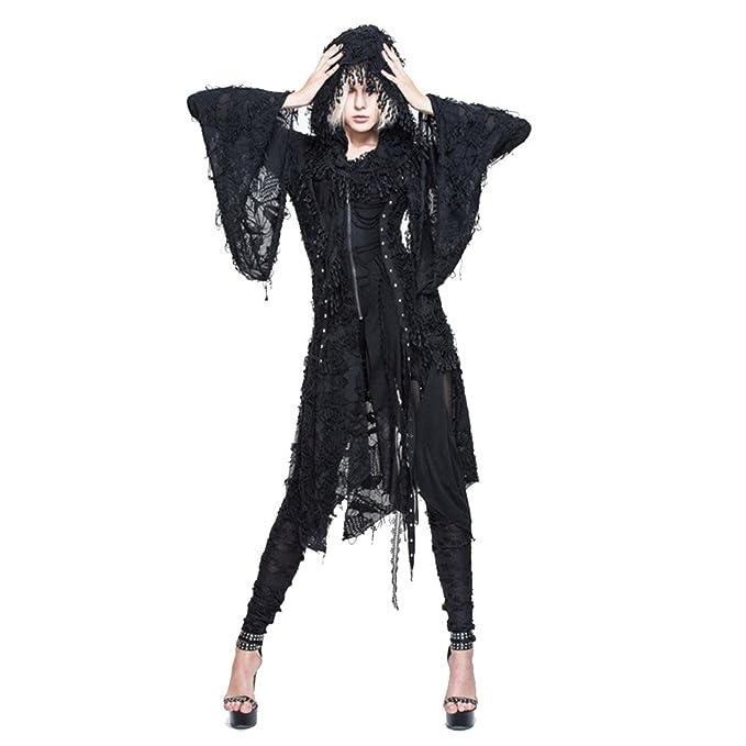 Amazon.com: Gótico Womens chaquetas Outwear Tops Negro ...
