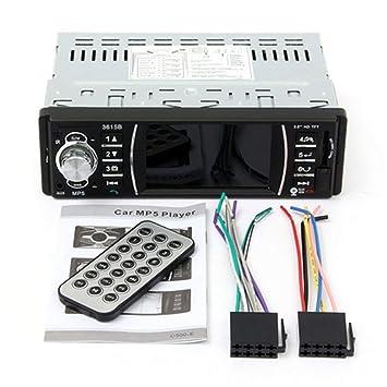 3.6 Pulgadas HD Pantalla Digital para Coche Reproductor MP5 Bluetooth Audio Estéreo Soporte de Video FM USB MP3 MP4 Control Remoto Cámara de Visión Trasera: ...