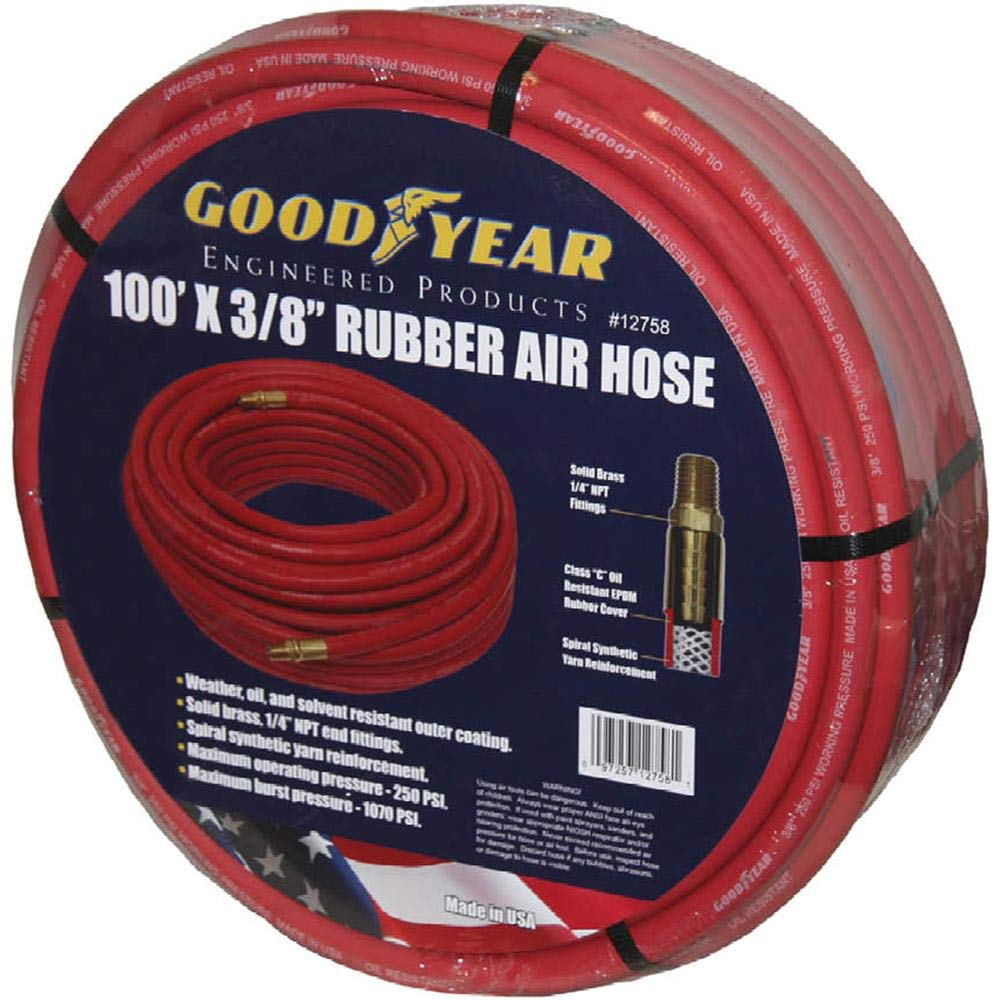 GRIP T28649-100 x 3//8 Red Goodyear Rubber Air Hose