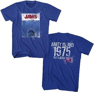 Jaws Poster Royal Adult T-Shirt