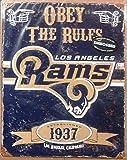Party Animal NFL Embossed Metal Sign, Los Angeles Rams