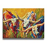 SG ULTIMATE Dance Of The Longhorns No Frame Wall Art Pictures Decorative Oil Paintings For Kitchen Living Room Bedroom Decoration Home Decor