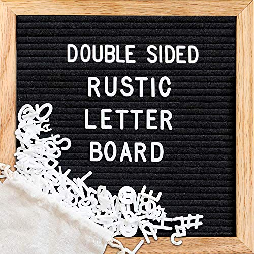 Felt Letter Board,Double Sided Letter Board &Chalkboard,Letter Board Letters,Message Board with 376 Letters/Scissors/Water Soluble Pen/Wet Tissue/Tripod Stand/Wall Mount/Mom Gift(10x10 inches) -