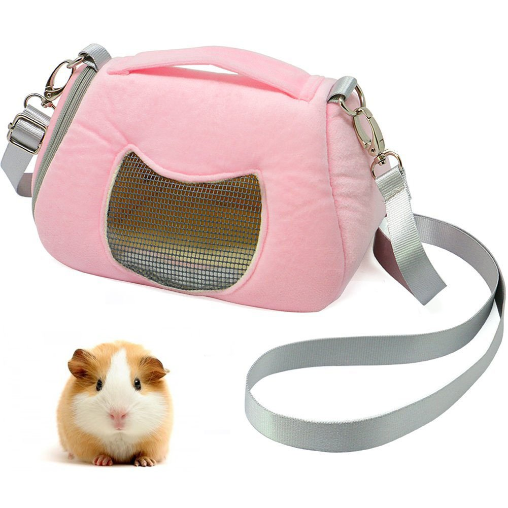ASOCEA Portable Pet Carrier Outgoing Handbag with Adjustable Single Shoulder Strap Pouch for Hamster Sugar Glider Squirrel Small Animals