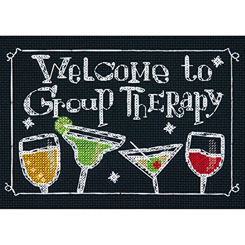 "Group Therapy Mini Counted Cross Stitch Kit, 7"" x 5"", 14-Cou"