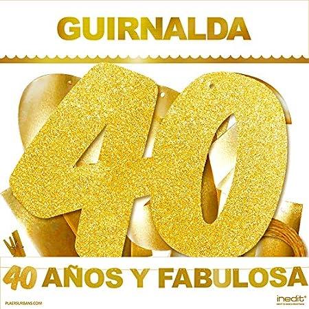 inedit Festa - Guirnalda Purpurina Dorada Fiesta de ...