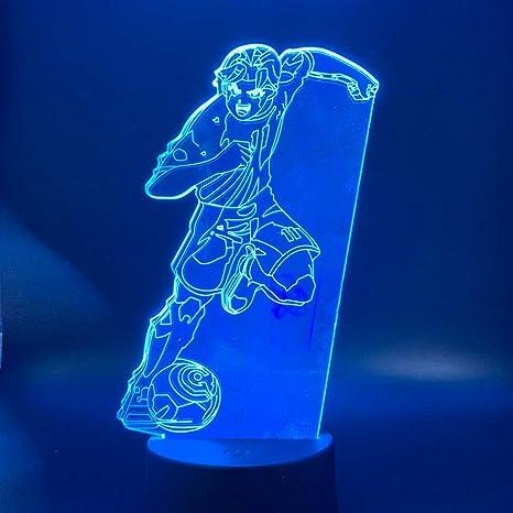 Dormitorio lámpara de mesa 3D con luz nocturna capitán de anime ...