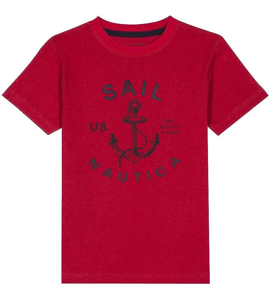Nautica Boys Short Sleeve Sailing Graphic T-Shirt