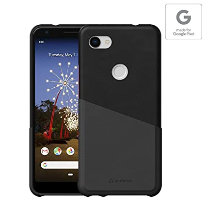 free shipping 3062e 78b72 Stuffcool Soho PU Leather Hard Back Cases Cover for Google Pixel 3A XL (6  Inch) with Card Holder - Black - Authorized Made for Google Pixel Accessory