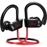 Bluetooth Headphones, CHGeek Wireless Headphones, Waterproof IPX7 Headsets for Workout, 9 Hours Playing Time HD Stereo Earbuds, Sports Earphones with Microphone, Black