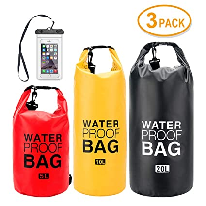 Amazon.com: iValley 5L/10L/20L Bolsa seca impermeable con ...