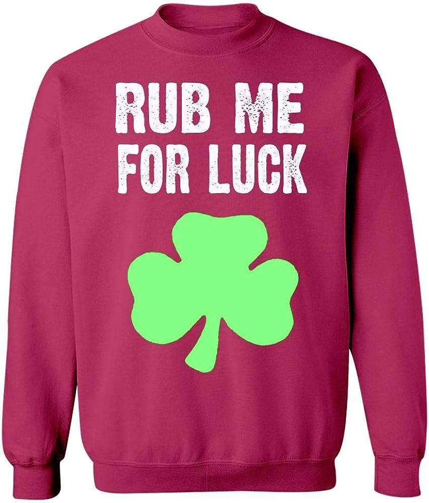 Cool Apparel Shop Rub Me for Luck Im Irish Sweatshirt