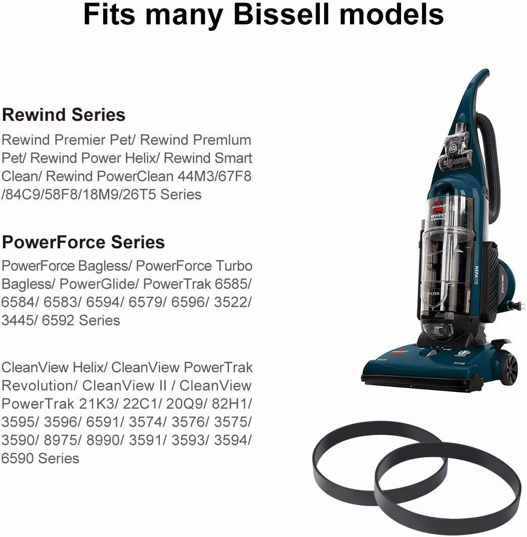 Juego de 6 almohadillas de repuesto 1152 compatibles con Bissell 1977N 1132N 11327 Vac /& Steam 2 en 1 Vacuum Cleaner y Steam Cleaner