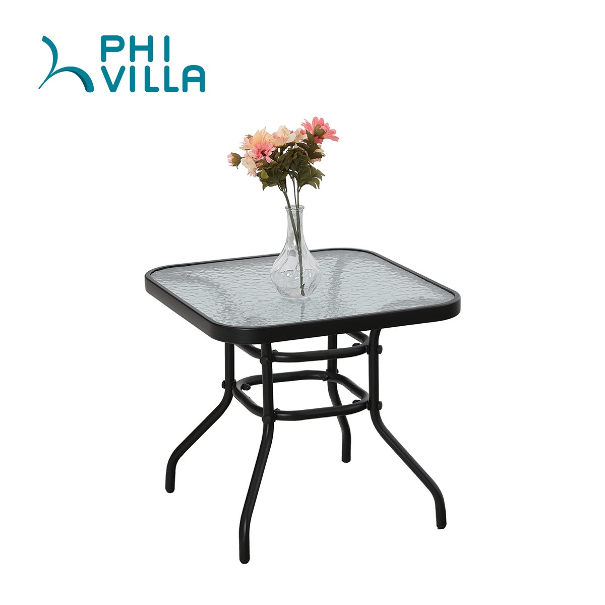 PHI VILLA Patio 3 PC Padded Folding Chair Set Adjustable Reclining 2 Position, Beige by PHI VILLA (Image #5)