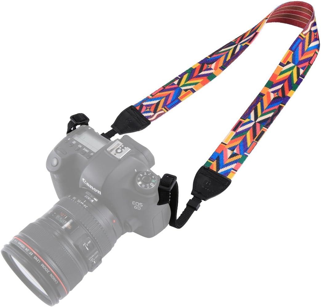 Color : Color3 WEIHONG Strap Retro Ethnic Style Multi-Color Series Shoulder Neck Strap Camera Strap for SLR//DSLR Cameras WEIHONG