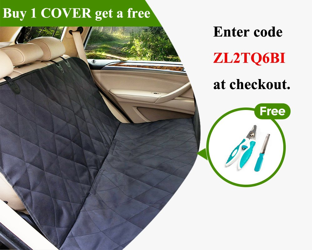 Lepet Dog Car Seat Covers Pet Seat Cover for Cars, Waterproof Scratch Proof and Anti-slip Backing, Padded & Quilted Durable 4 Layers, Machine Washable Car Backseat Cover For Pets by Lepet (Image #2)