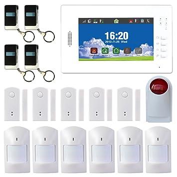 7 pulgadas pantalla táctil inalámbrica GSM Sistema de alarma ...