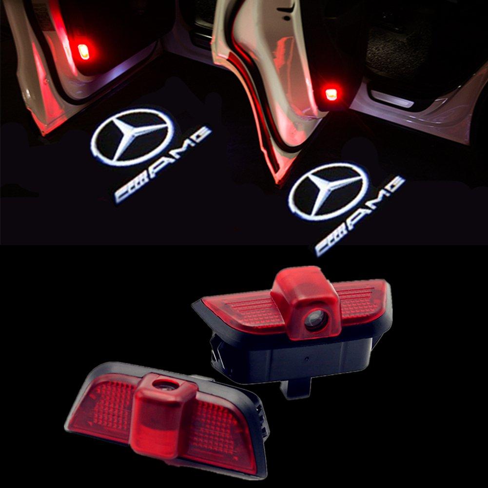 huayin 4 pezzi auto porta luce Logo Porta Ingresso illuminazione lampada per proiettore