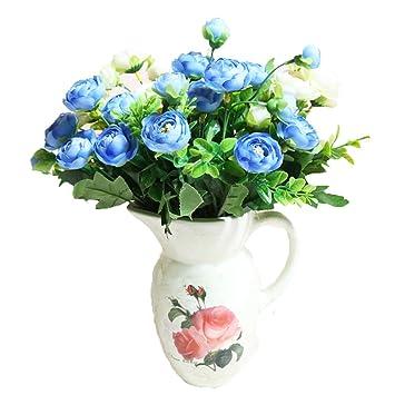 Lopkey Soie Fleurs Artificielles The Bunch Avec Petite Fleur Blanc