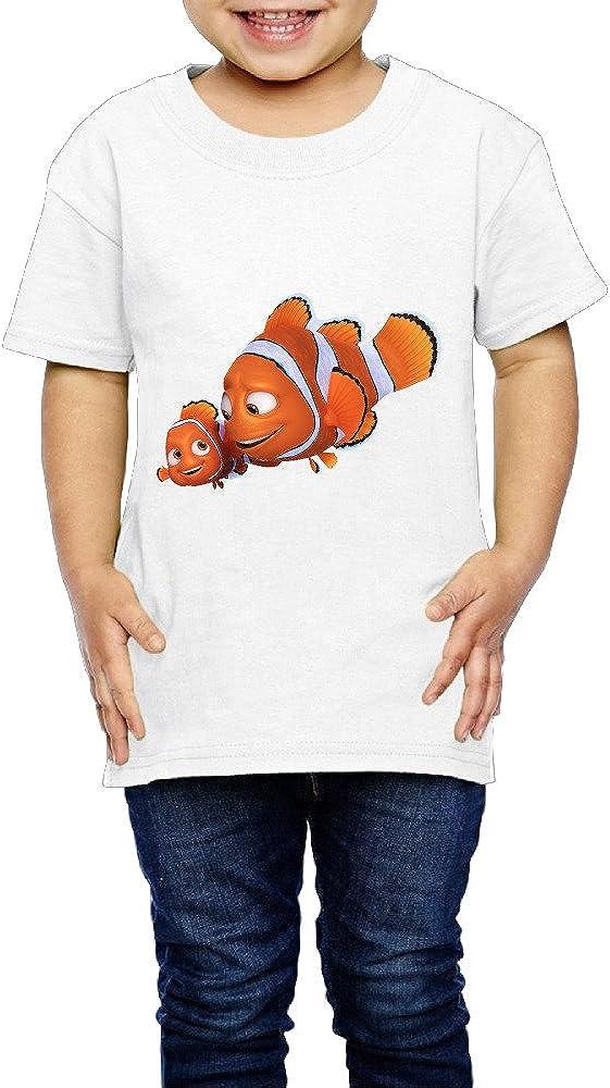 Kim Lennon Cartoon Nimo Fish Short Sleeve Boys T-Shirt Trendy Black