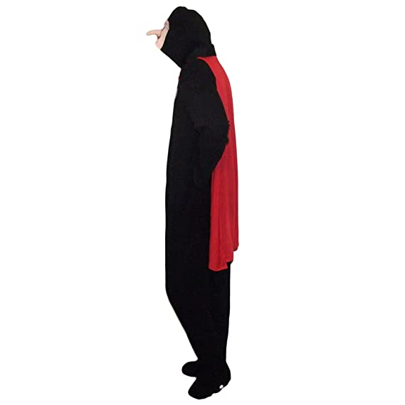 Amazon.com: Primark Mens Sleepsuit Dracula Vampire Halloween Adult Onesie X-Small Black: Clothing