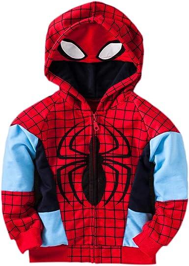 Marvel Boys Zip Up Spiderman Hoodie