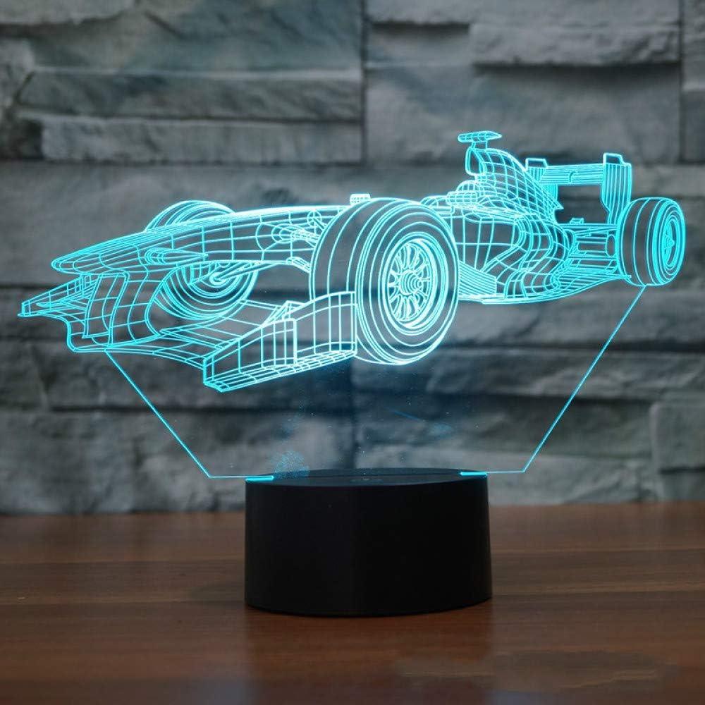 BFMBCHDJ F1 Racing Touch Lámpara de mesa 7 colores Cambio de lámpara de escritorio Lámpara 3D Novedad Led Luces nocturnas Death Star Led Light: Amazon.es: Iluminación