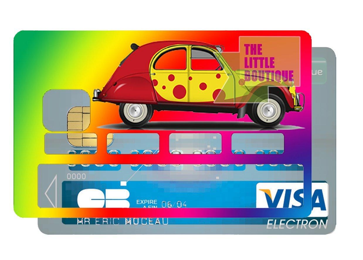 Adesivo per carte di credito Mon banquier est un ami The Little Boutique motivo