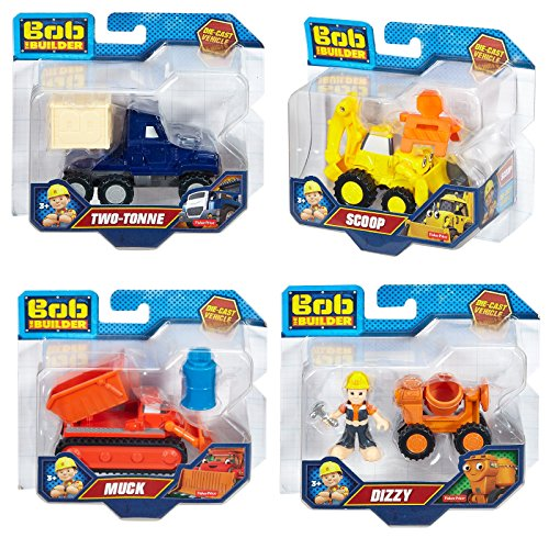 set-of-4-fisher-price-bob-the-builder-die-cast-vehicle-scoop-dizzy-muck-two-tonne
