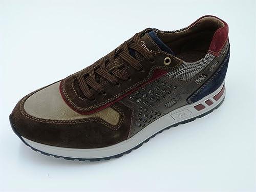 Nero Giardini uomo sneakers blu A705251U scarpe in pelle inverno 2018, eu 44