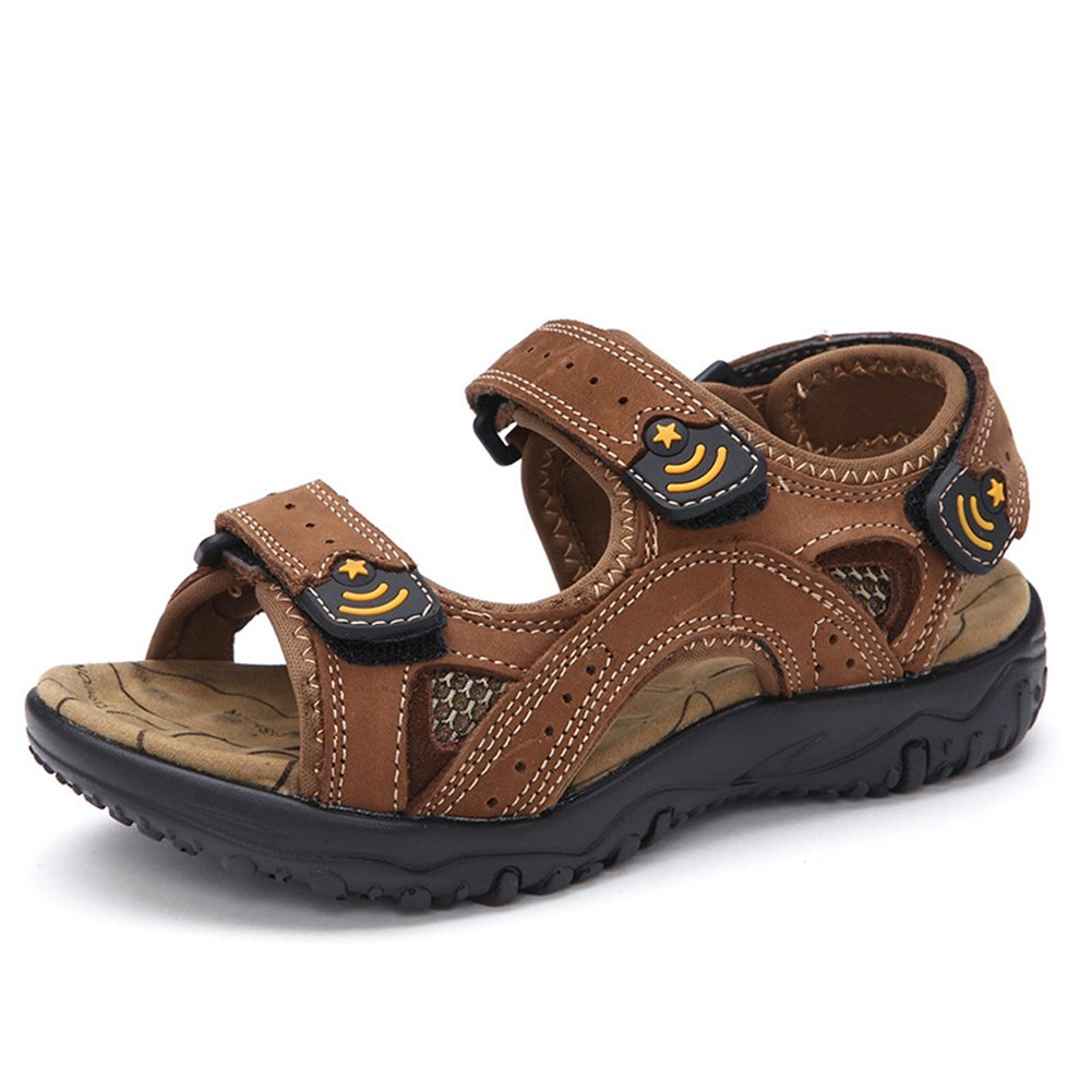 Tuoup Leather Summer Athletic Walking Beach Sandals for Kids Boys
