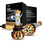 Auxbeam LED headlights F-16 Series 9006 / HB4 LED Headlight bulbs with 2 Pcs of led bulbs conversion kits 60W 6000lm CREE LED Chips - 1 Year Warranty