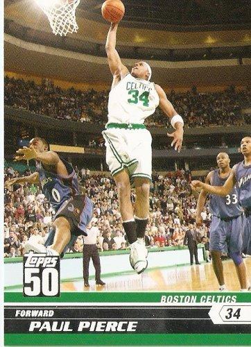 2007-08 (2008) Topps 50th Anniversary Limited Edition # 38 Paul Pierce / Boston Celtics - NBA Basketball Trading - Store Card Boston