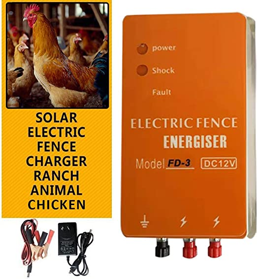 Ranch FD-3 Chicken House Fence Electric Poultry Pulse voltage Fencer Supplies