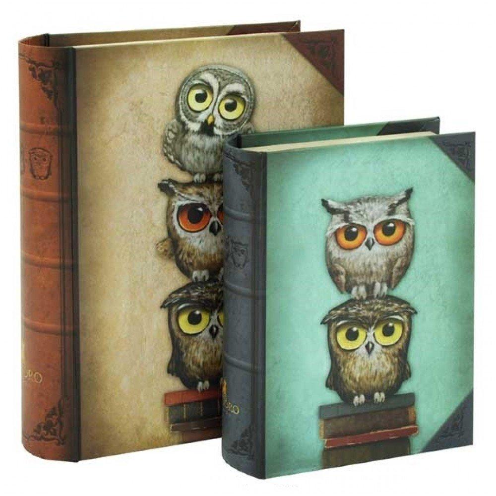 SANTORO Set di 2scatole Chronicles Book–Libro Gufi Santoro-London