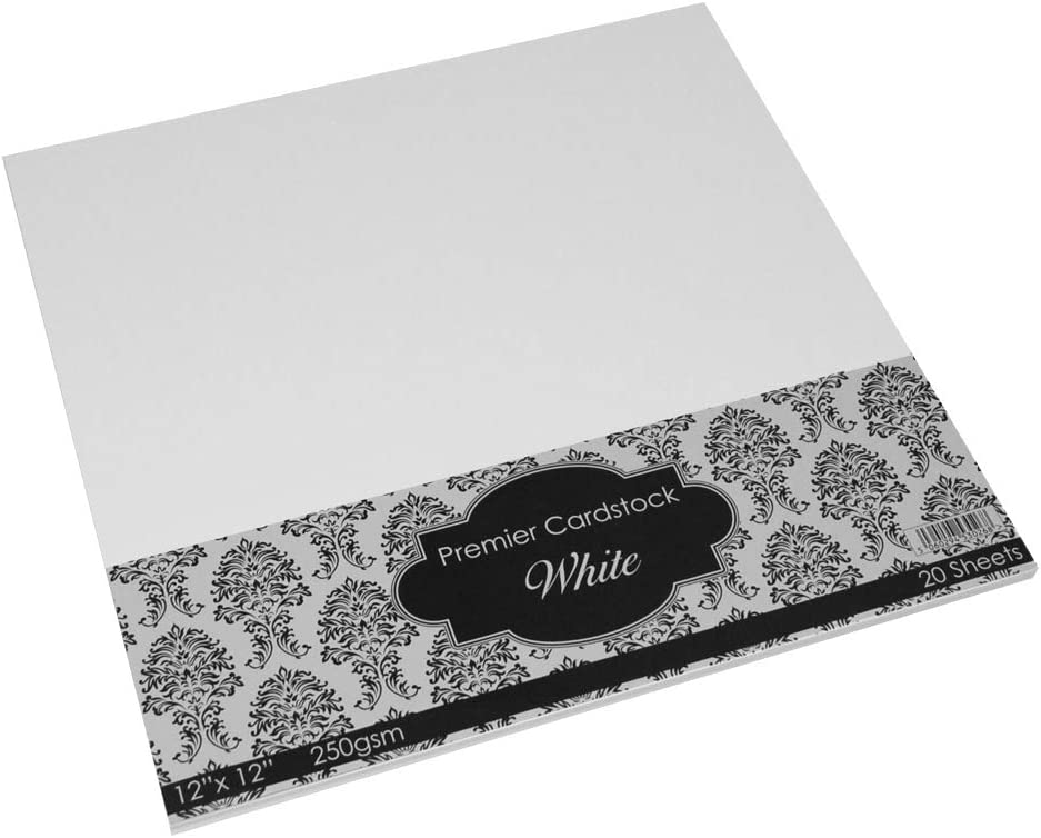 /nero confezione da 20/fogli Craft UK 2020/12/x 12/cm 225/g di Premier/